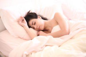 Het mentaledieetplan slapende vrouw