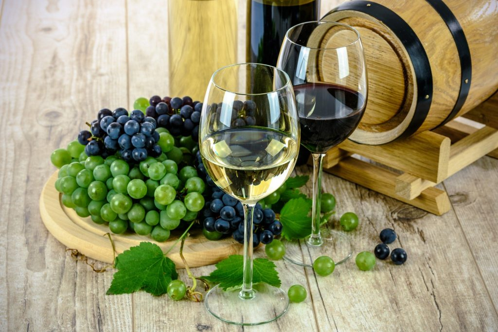 Alcohol  rode en witte wijn